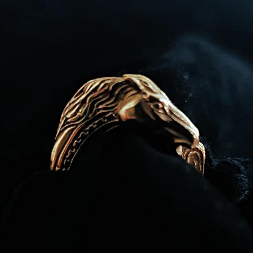 Gold Trojan Horse Head