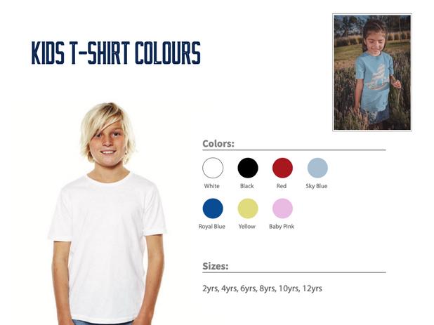 Kid T-Shirt Colours
