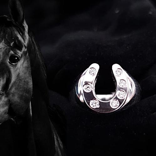 Horseshoe Ring with Diamonds - 4.4