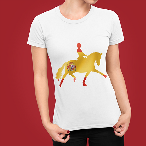 Dressage Horse T-Shirt  - Spanish Flag