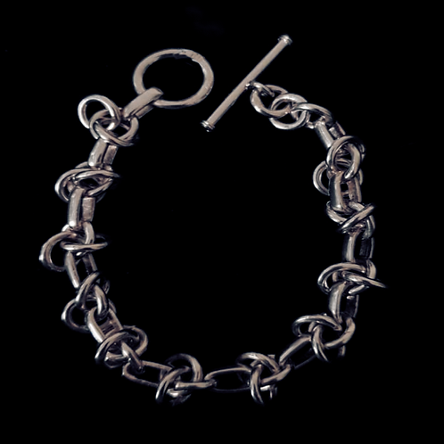 Silver Knot Chain Bracelet