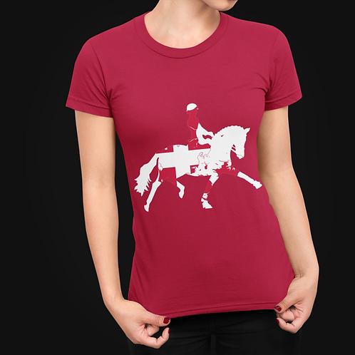Dressage Horse Unisex T-Shirt - Danish Flag