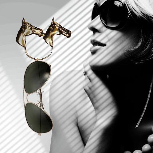 Gold Horse Head - Glasses holder