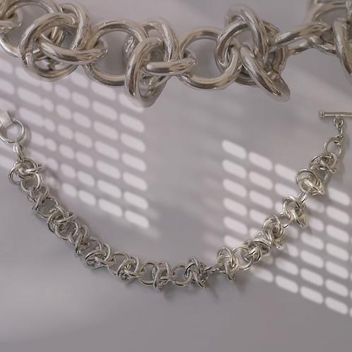 Silver Jump Ring Bracelet