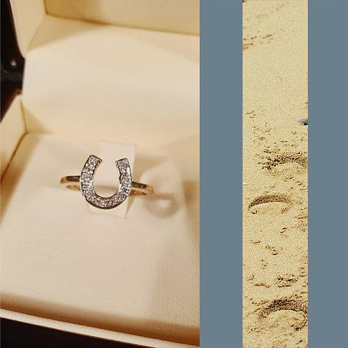 Diamond Set Horseshoe Ring