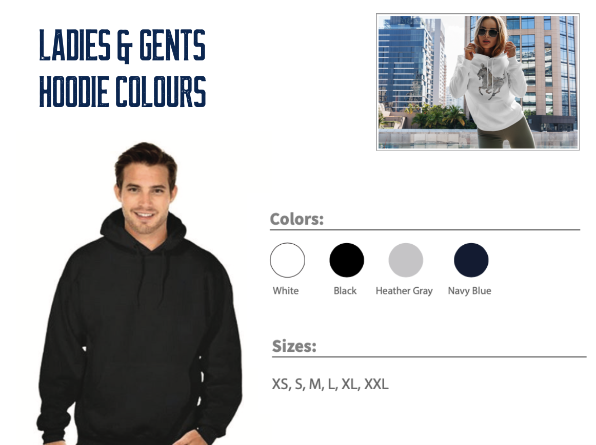 Ladies & Gents Hoodie Colours