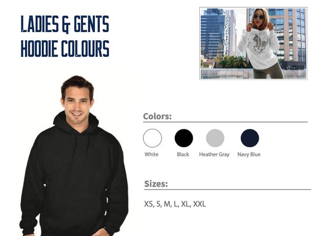Ladies & Gents Hoodie Colours