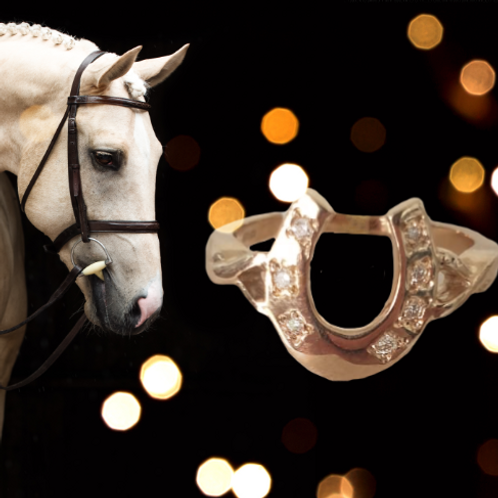 Gold Horseshoe Diamond Ring