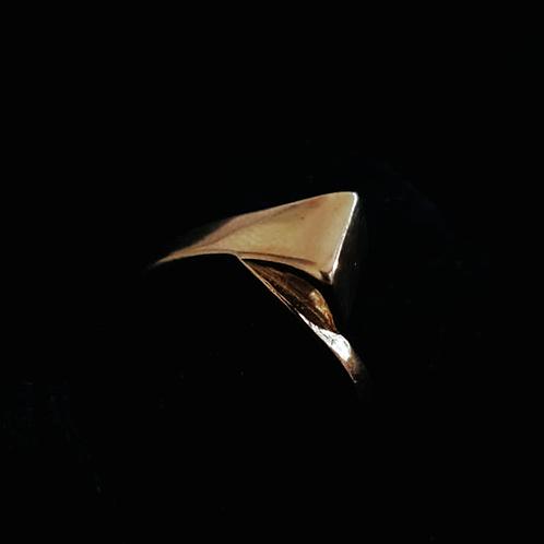 Large Gold Nail Ring
