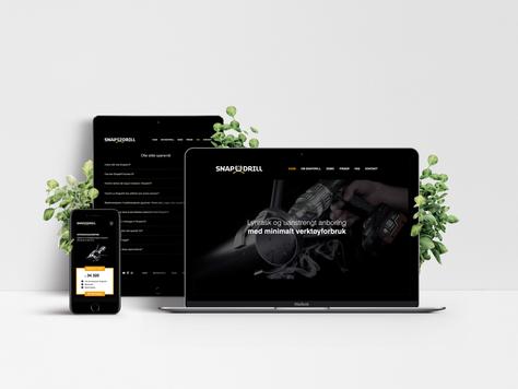 Design av nettside for Snapdrill