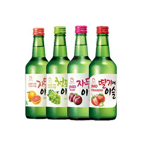 JINRO MIX AND MATCH 4 SOJU FLAVORS