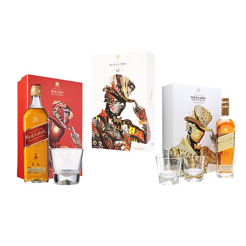 Johnnie Walker Red ,Black and Gold Label Tristan Eaton Artist Series