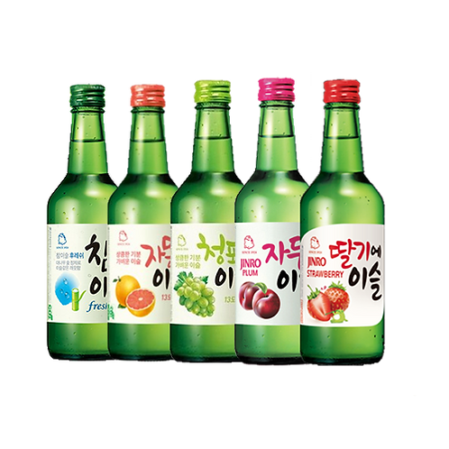 JINRO MIX AND MATCH 5 SOJU FLAVORS