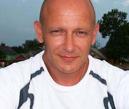 Portrait photo of Steve Gooch, taken in Lithuania in about 2015
