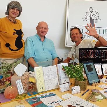 Steve Gooch promoting Reiki classes in Larnaca, Cyprus