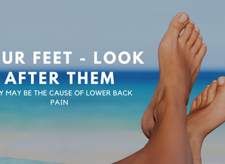 YOUR FEET MAY BE THE CAUSE OF YOUR BACK PAIN