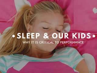 WHY SLEEP IS CRITICAL TO PERFORMANCE FOR OUR KIDS IN SPORT