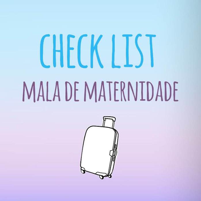 Check List - Mala de Maternidade