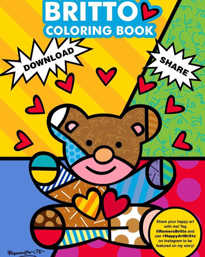 Livro para colorir do Romero Britto