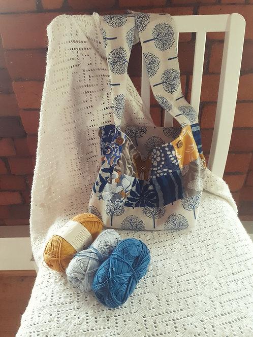 Versatile - Blue & Yellow Patch / Blue Trees