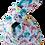 Thumbnail: Knot Bag - Owls and aqua linen