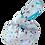 Thumbnail: Knot Bag - Woodland 1 and aqua linen