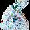 Thumbnail: Knot Bag - Birds and aqua linen