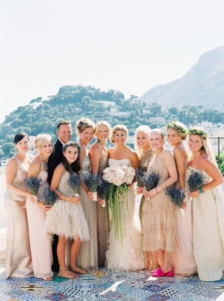 Bride & Bridal party Capri