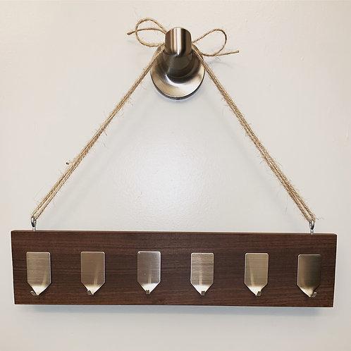 Wood Jewelry & Key Rack