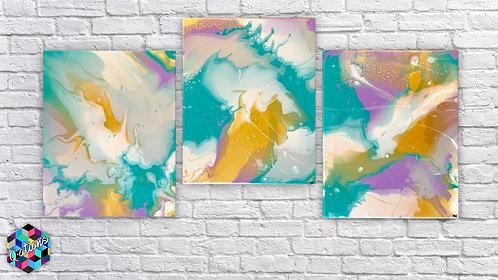 16x20 Pastel Metallic Triple Set