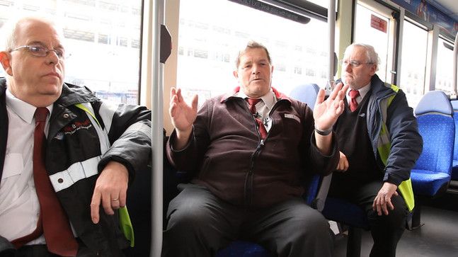 L-R, John, Neil, Mike. Bus drivers for over 25 years