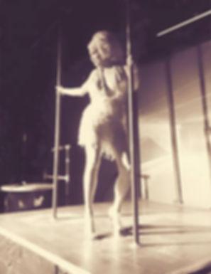 drag queen pole dancing show big hair
