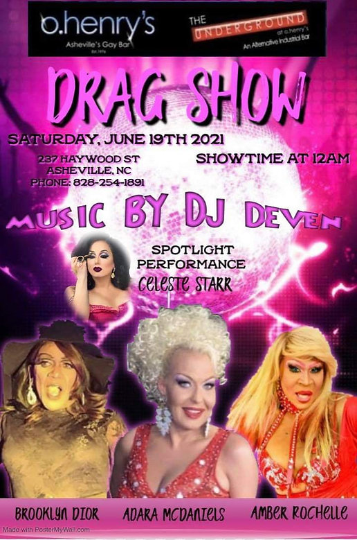 Performers at drag show on JUNE19