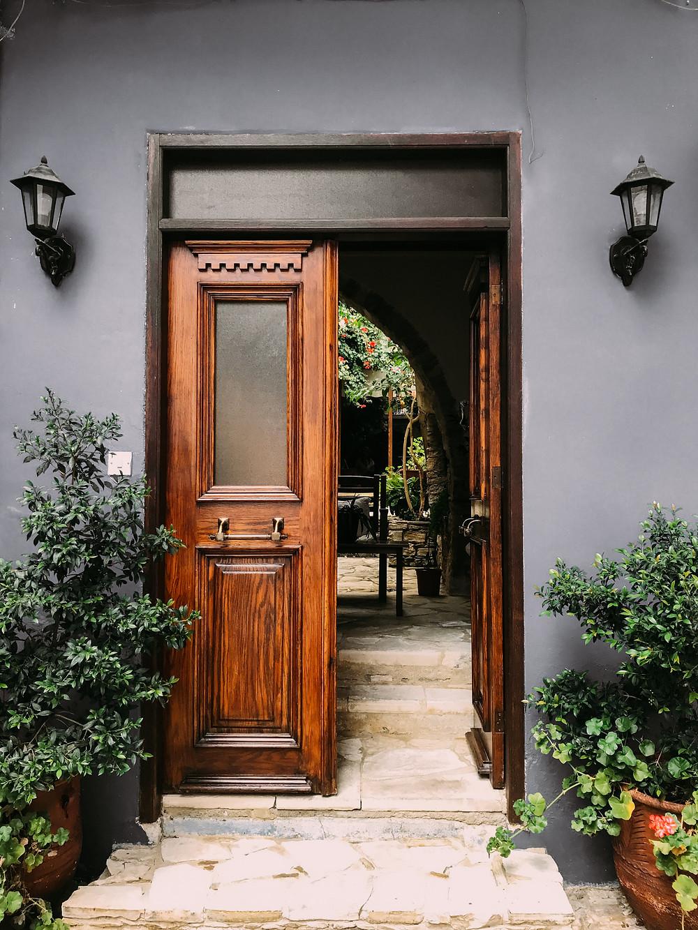 wooden door in san ramon property