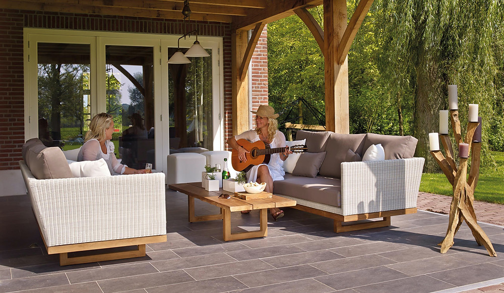 relaxing backyard in san ramon property