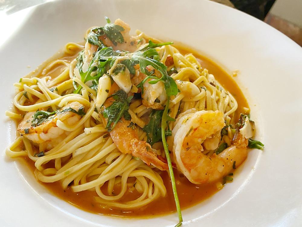 Shrimp pasta!