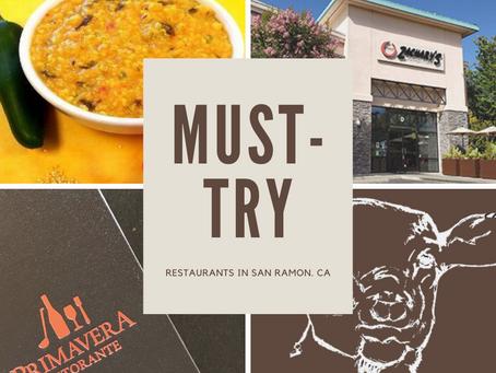 Must-Try Restaurants in San Ramon, California