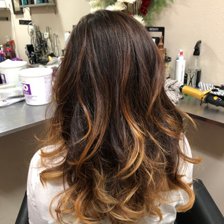 Color melt balayage