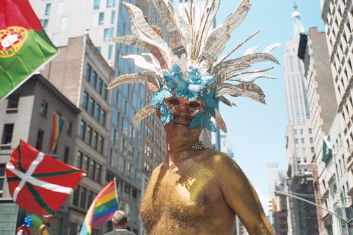 Golden God, World Pride, New York City, 2019