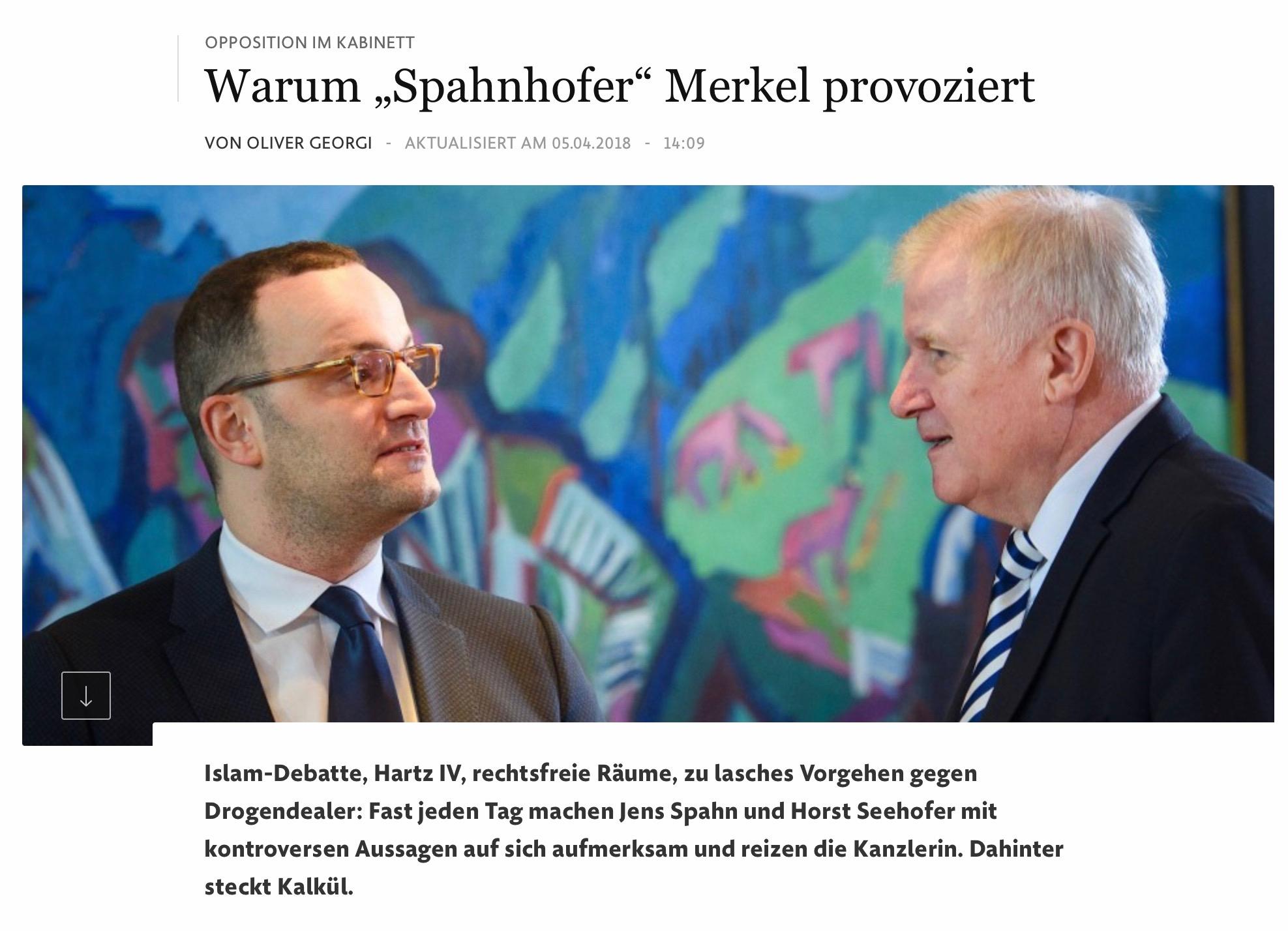"""""""Spahnhofer"""" macht es Merkel schwer"""