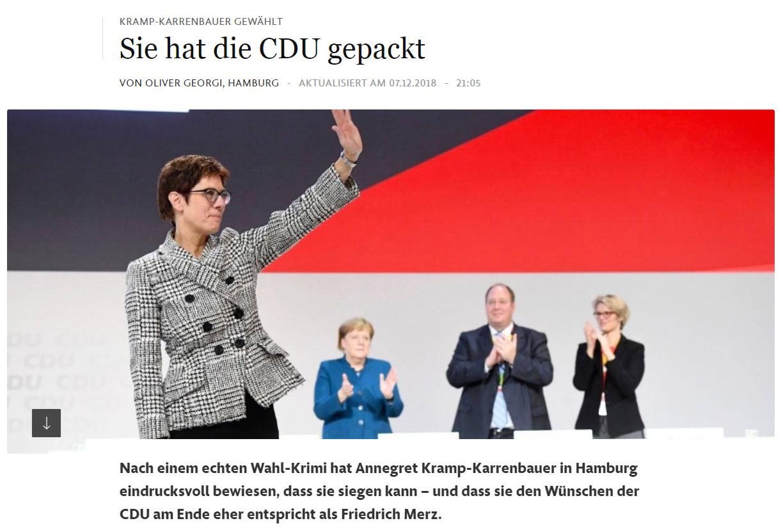 AKK wird CDU-Vorsitzende