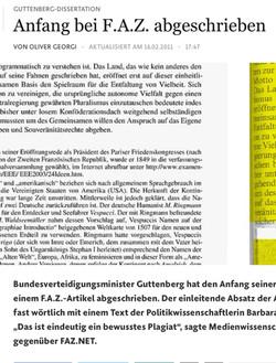 Guttenberg und das Plagiat