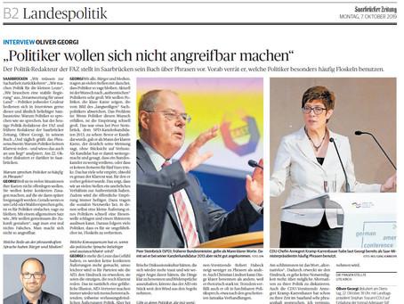 """Interview in der """"Saarbrücker Zeitung"""""""