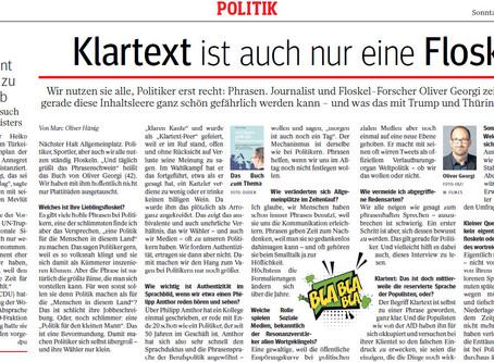 """Interview in der """"WAZ am Sonntag"""""""