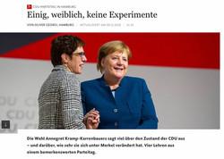 AKK beerbt Merkel