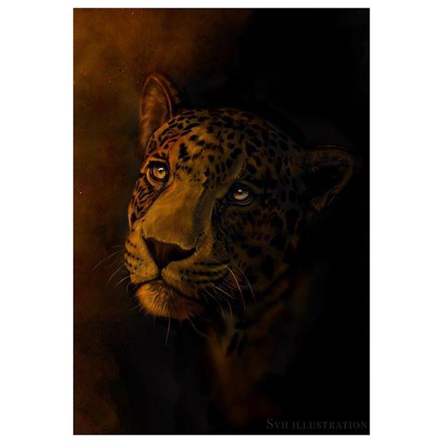 Here's a quick piece of a black jaguar,