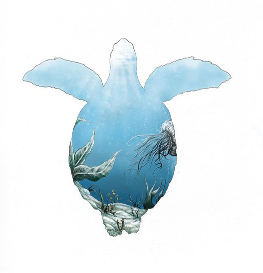 Final version of my sea turtle piece. Mo