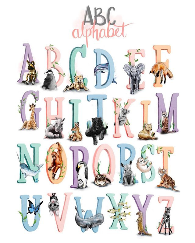 So here is my 'improved' animal alphabet