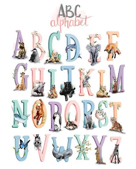 So here is my 'improved' animal alphabet
