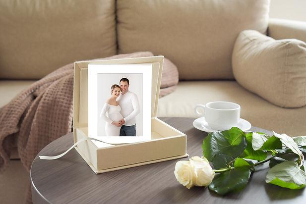 Fotobox mit Bild im Passepartout